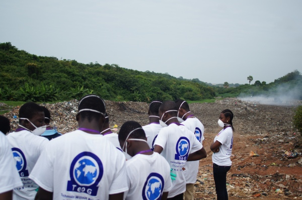 The team at the Waste Disposal Site at Nkanfoa.