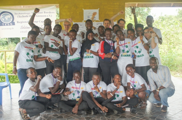 A group Photo with the team from Anopa